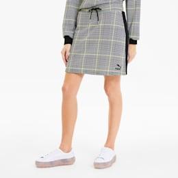 Mini jupe Recheck Pack pour femme, Cotton Black-AOP, small