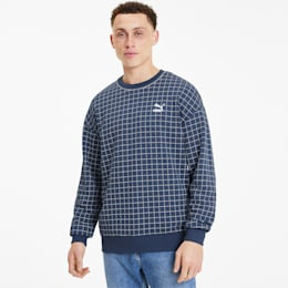 Recheck Pack Crew Neck Men's Sweater, Dress Blues, small