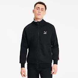 Men's Track Jacket, Cotton Black, small