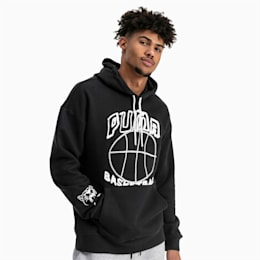 Pass the Rock Herren Hoodie, Puma Black, small