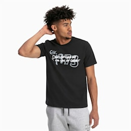 Great Hoops-T-shirt til mænd, Puma Black, small