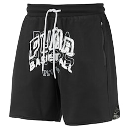 Reversible Men's Basketball Shorts, Puma Black, small-SEA
