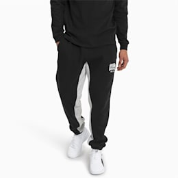 Press Knitted Fleece Men's Sweatpants, Puma Black-LGH, small