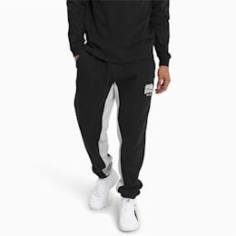 Pantalones deportivos Hoops Press para hombre, Puma Black-LGH, pequeño