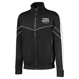 Hoops Since 73 Men's Track Jacket, Puma Black-Puma White, small-SEA