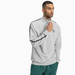 Sweatshirt com meio fecho Evolution para homem, Light Gray Heather, small