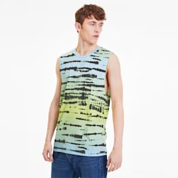 Camiseta sin mangas  de teñido anudado AOP para hombre