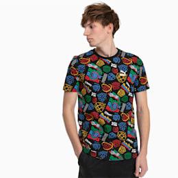 PUMA x RUBIK'S CUBE Allover-Print Herren T-Shirt, Puma Black, small