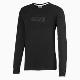 Bounce basketbal-T-shirt met lange mouwen, Puma Black, small