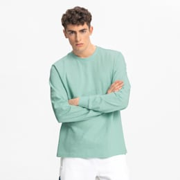 Bounce Herren Basketball Langarm-Shirt, Mist Green, small