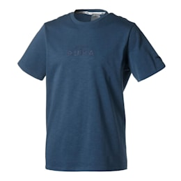 Pull Up Men's Basketball Tee, Dark Denim, small
