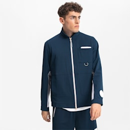Track jacket Crossover Basketball uomo, Dark Denim-Puma White, small