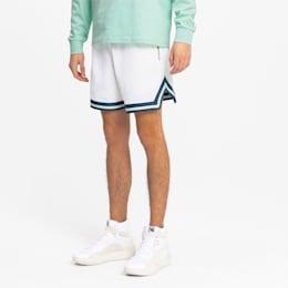 Shorts de baloncesto para hombre Step Back, Puma White, small