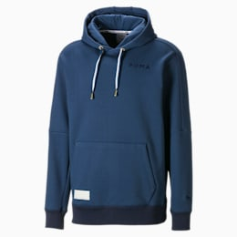 Tear Drop Men's Basketball Hoodie, Dark Denim, small