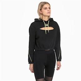 Tech Clash Damen Hoodie, Puma Black, small