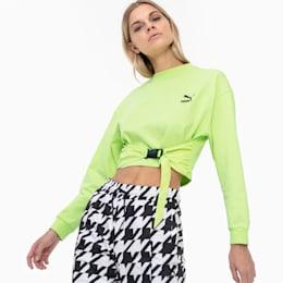 Tech Clash Damen Sweatshirt, Sharp Green, small