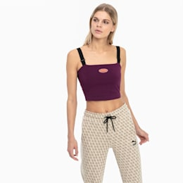 Tech Clash Women's Strap Top, Pickled Beet, small