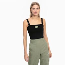 Tech Clash Women's Strap Top, Puma Black, small