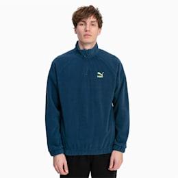 Polar Fleece Half Zip Herren Sweatshirt, Blue Wing Teal, small