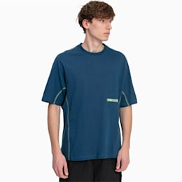 T-Shirt Boxy pour homme, Blue Wing Teal, small