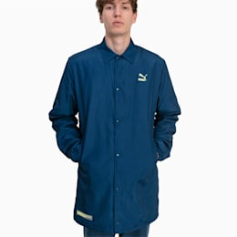 Herren Lange Gefütterte Jacke, Blue Wing Teal, small