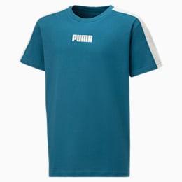 Logo-T-shirt voor kinderen, Moroccan Blue, small