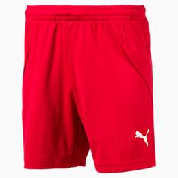ftblTRG Kids' Football Training Shorts, Chili Pepper-Puma White, small-IND