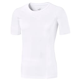 LIGA Baselayer Short Sleeve Men's Tee, Puma White, small