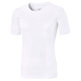 T-shirt de manga curta LIGA Baselayer para homem, Puma White, small