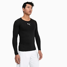LIGA Baselayer Long Sleeve Men's Tee, Puma Black, small