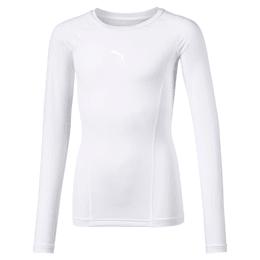 Liga Baselayer langærmet T-shirt til børn, Puma White, small