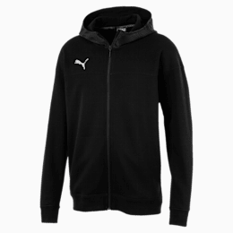 CUP Casuals Hooded Full Zip Men's Jacket, Puma Black-whisper white, small