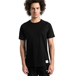 Camisola de futebol ftblNXT Casuals Graphic para homem, Puma Black-Charcoal Gray, small