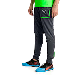 ftblNXT Men's Pro Training Pants, Ebony-Green Gecko, small
