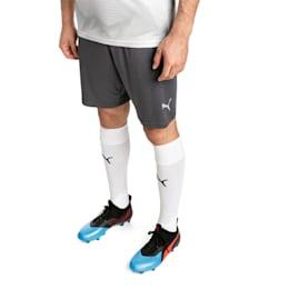 ftblNXT Men's Football Shorts, Ebony-Green Gecko, small