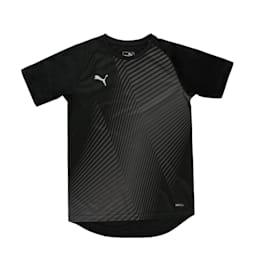 ftblNXT Graphic Kids' Football Tee, Puma Black-Red Blast, small-IND
