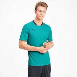 Men's Training Tee, Blue Turquoise-Ebony, small
