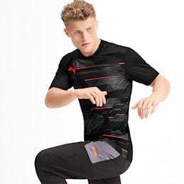Graphic Herren T-Shirt, Puma Black-Nrgy Red, small