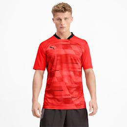 ftblNXT Men's Graphic Shirt, Nrgy Red-Puma Black, small