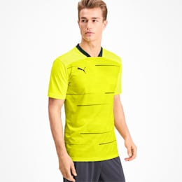T-shirt Graphic para homem, Yellow Alert-Grey Dawn, small
