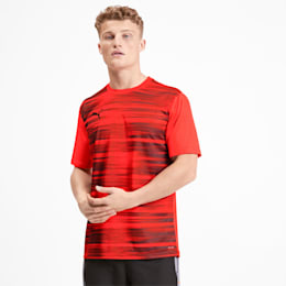 Core Graphic Men's Shirt, Nrgy Red-Puma Black, small