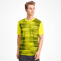 T-shirt Core Graphic para homem, Yellow Alert-Grey Dawn, small