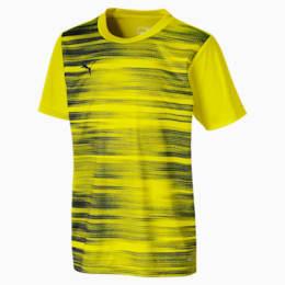 ftblNXT Graphic Boys' Shirt, Yellow Alert-Grey Dawn, small