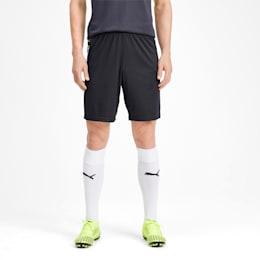 ftblNXT Herren Fußball Gewebte Shorts, Ebony-Grey Dawn-Yellow Alert, small
