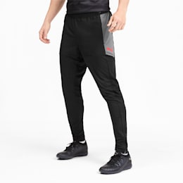 Pro Knitted Men's Pants, Puma Black-Nrgy Red, small