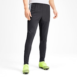 Pro Knitted Men's Pants, Grey Dawn-Yellow Alert, small