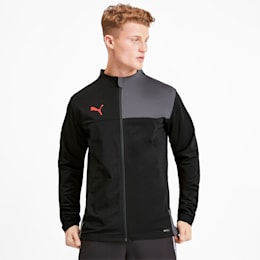 Herren  Trainingsjacke, Puma Black-Nrgy Red, small