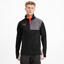 Herren Quarter Zip Top, Puma Black-Nrgy Red, small