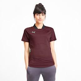 ftblNXT Pro Women's Football Shirt, Vineyard Wine-Green Glimmer, small