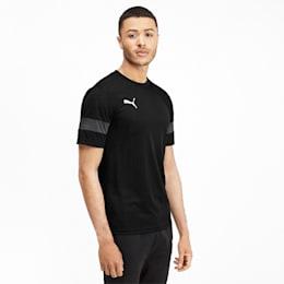 T-shirt desportiva para homem, Puma Black-Asphalt, small